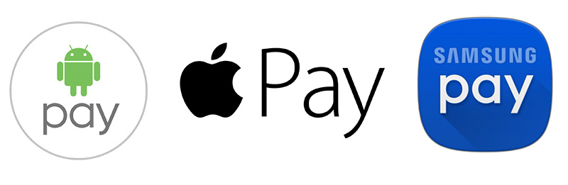 Apple Pay, Samsung Pay и Android Pay
